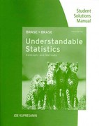 Student Solutions Manual for Brase/Brase's Understandable Statistics: Concepts and Methods, 10th 1st edition 9780840054579 0840054572