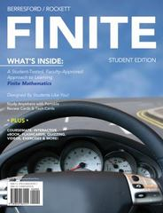 FINITE (with Mathematics CourseMate with eBook Printed Access Card) 1st Edition 9780840065551 0840065558