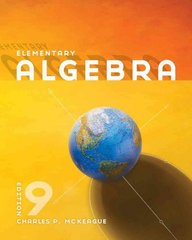 Elementary Algebra 9th edition 9780840064219 0840064217