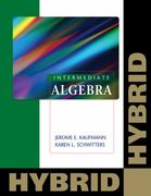 Intermediate Algebra: Hybrid (with Enhanced Web-Assign with eBook for One Term Math and Science) 1st edition 9780840065919 0840065914