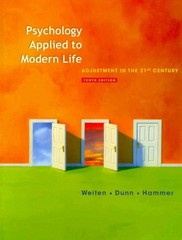 Psychology Applied to Modern Life 10th Edition 9781111186630 1111186634