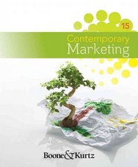 Contemporary Marketing 15th edition 9781111221782 1111221782