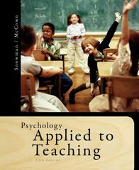 Psychology Applied to Teaching 13th Edition 9781111298111 1111298114