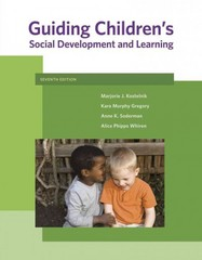 Guiding Children's Social Development and Learning 7th Edition 9781111301255 1111301255