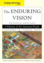 Cengage Advantage Books: The Enduring Vision, Volume II 7th edition 9781111341572 1111341575