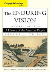 Cengage Advantage Books: The Enduring Vision, Volume I 7th edition 9781111341565 1111341567