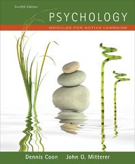Psychology: Modules for Active Learning (with Concept Modules with Note-Taking and Practice Exams Booklet) 12th edition 9781111342869 1111342865