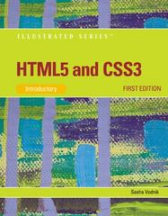 HTML5 and CSS3, Illustrated Introductory 1st edition 9781111527891 111152789X