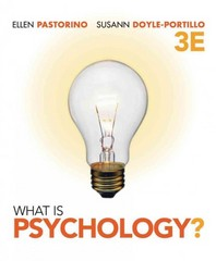 Cengage Advantage Books: What is Psychology? 3rd edition 9781111344511 1111344515
