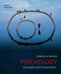 Psychology 10th Edition 9781111344856 111134485X
