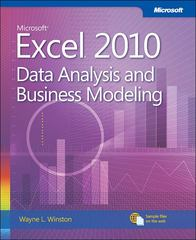 Microsoft Excel 2010: Data Analysis and Business Modeling 3rd Edition 9780735660519 0735660514