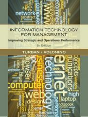 Information Technology for Management 8th edition 9780470916803 047091680X