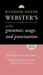 Random House Webster's Pocket Grammar, Usage, and Punctuation 2nd edition 9780375719677 0375719679