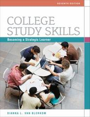 College Study Skills 7th Edition 9780495913511 0495913510