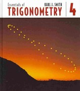 Essentials of Trigonometry (Book Only) 4th edition 9780534407599 0534407595