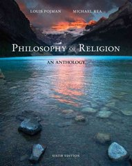 Philosophy of Religion 6th edition 9781111305444 1111305447