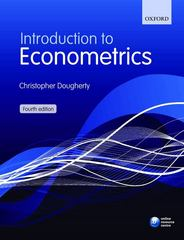 Introduction to Econometrics 4th Edition 9780199567089 0199567085