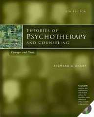 Theories of Psychotherapy & Counseling 5th edition 9780840033666 0840033664