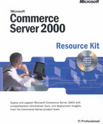 Microsoft Commerce Server 2000 Resource Kit 0 9780735611283 0735611289