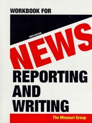 Workbook for News Reporting and Writing 10th edition 9780312656461 0312656467