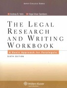 Legal Research and Writing Workbook 6th Edition 9780735507920 0735507929