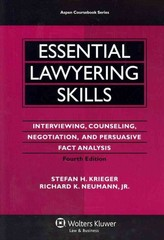 Essential Lawyering Skills 4th edition 9780735599963 0735599963