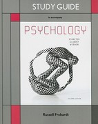 Study Guide for Psychology 2nd edition 9781429241076 1429241071