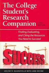 The College Student's Research Companion 5th Edition 9781555707293 1555707297