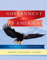 Government in America 15th edition 9780205806379 0205806376