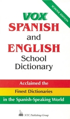 Vox Spanish and English School Dictionary 1st edition 9780844279756 0844279757