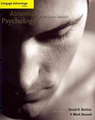 Cengage Advantage Books: Abnormal Psychology 6th edition 9781111345518 1111345511
