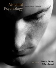 Abnormal Psychology 6th edition 9781111343620 1111343624