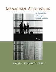 Managerial Accounting 11th edition 9781111571269 1111571260