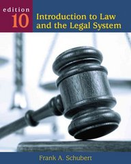 Introduction to Law and the Legal System 10th edition 9780495899334 049589933X