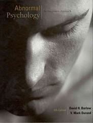 Abnormal Psychology 6th edition 9781111343651 1111343659
