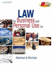 Law for Business and Personal Use 19th Edition 9780538496902 0538496908