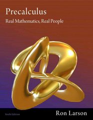 Precalculus 6th edition 9781111427634 1111427631