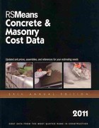 Concrete and Masonry Cost Data 2011 28th edition 9781936335046 1936335042