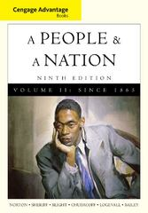 Cengage Advantage Books: A People and a Nation 9th edition 9780495916260 0495916269