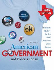 American Government and Politics Today - Texas Edition, 2011-2012 15th edition 9780495909491 0495909491