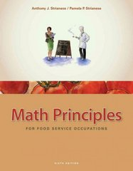 Math Principles for Food Service Occupations 6th Edition 9781435488823 1435488822