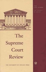 The Supreme Court Review, 1994 73rd edition 9780226363110 0226363112