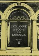 Catalogue of Books and Journals, 1891-1965 0 9780226836119 0226836118