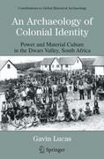 An Archaeology of Colonial Identity 1st edition 9780306485381 0306485389