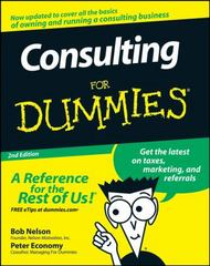 Consulting For Dummies 2nd edition 9780470178096 0470178094