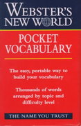 Webster's New World Pocket Vocabulary 1st edition 9780028634869 0028634861