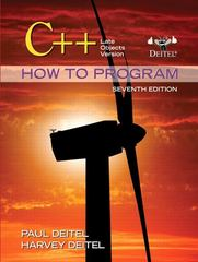 C++ How to Program 7th edition 9780132165419 0132165414