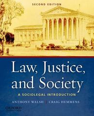 Law, Justice, and Society 2nd edition 9780199757930 0199757933