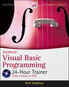 Stephens' Visual Basic Programming 24-Hour Trainer 1st Edition 9780470943359 0470943351