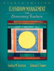 Classroom Management for Elementary Teachers 8th edition 9780205578627 0205578624